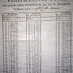 1782 price list