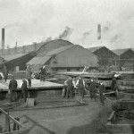 Workington Moss Bay Iron & Steel Works. Rail bank and staff. 1900s?