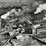 Workington Moss Bay (rt.) and Derwent Works looking SE. 1930s?