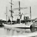 Lonsdale Dock. 3-masted barque moored at east end of dock. 1900s?