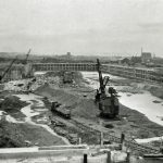 Prince of Wales Dock. General view of excavation and works looking east..