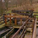 Paddle sluice - redirects water to the overspill or the pen trough