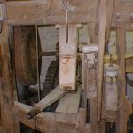 Flour chute on the left stone set - the primary stones used in the mill