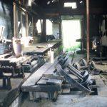 Flakebridge, Appleby, 1973 - saw mill interior (1-26)