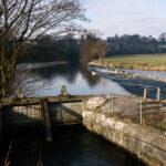 Weir on River Kent, Feb 1991 (58-003)