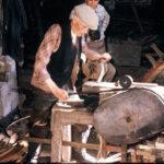 Making the bools or hazel hoops, Lowick Green, Jun 1965 (62-74)